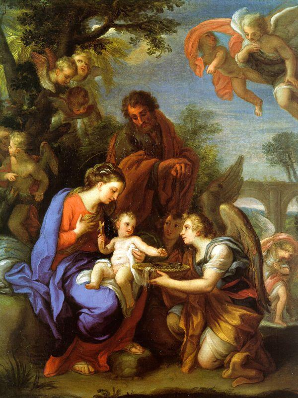 Chiari, Giuseppe The Rest on the Flight into Egypt oil painting picture