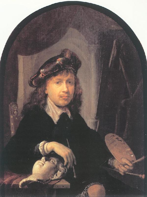 DOU, Gerrit Self-Portrait oil painting picture
