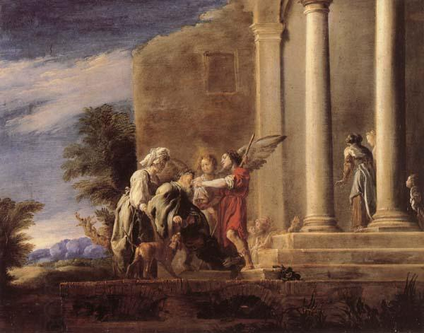 FETI, Domenico The Healing of Tobit oil painting picture