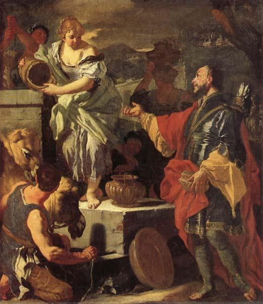 Francesco Solimena Rebecca at the Well oil painting picture