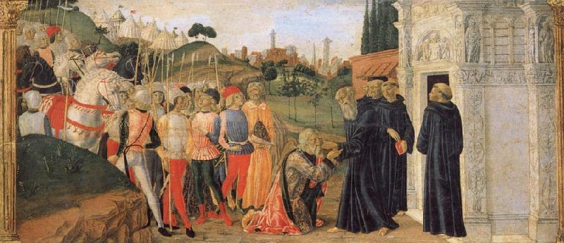 Francesco di Giorgio Martini Three Stories from the Life of St.Benedict