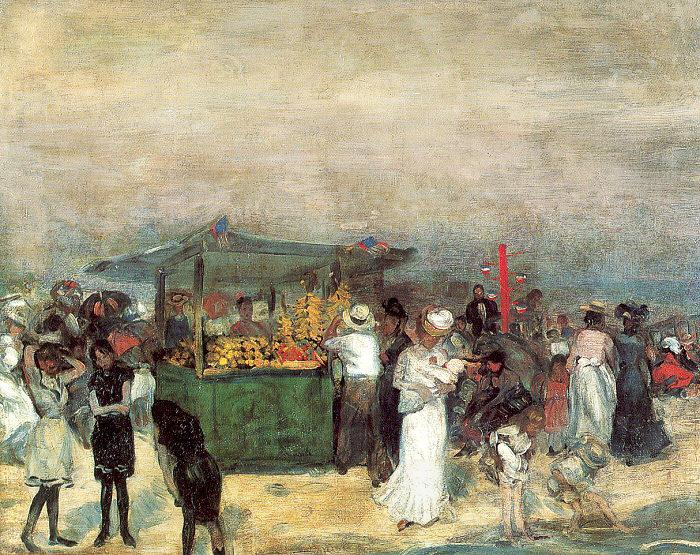 Glackens, William James Fruit Stand, Coney Island oil painting picture