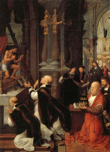 Isenbrandt, Adriaen The Mass of St.Gregory China oil painting art