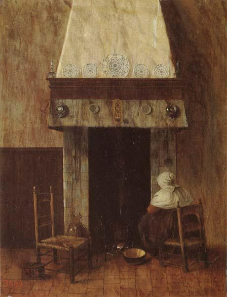 Jacobus Vrel An Old Woman at he Fireplace