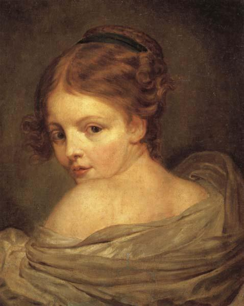 Young Woman Seen from the Back Jean Baptiste Greuze China ...