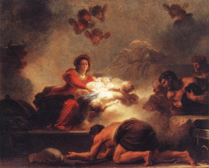 Jean-Honore Fragonard Adoration of the Shepherds oil painting picture
