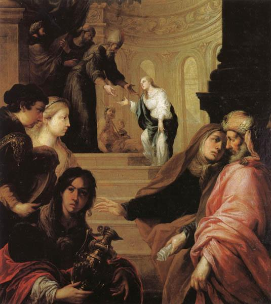 Juan de Sevilla romero The Presentation of the Virgin in the Temple oil painting picture