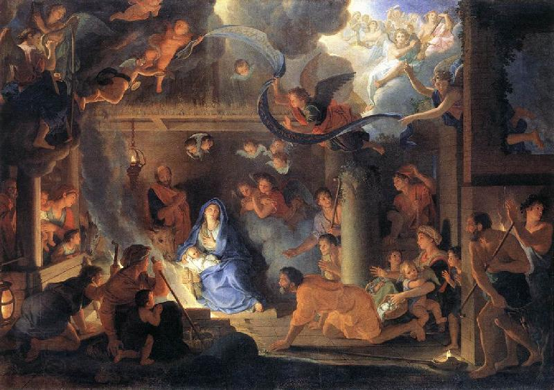 LE BRUN, Charles Adoration of the Shepherds oil painting picture