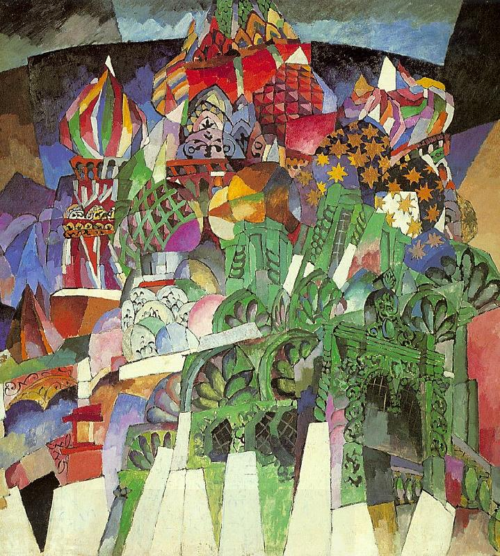 Lentulov, Aristarkh St. Basil's Cathedral oil painting picture
