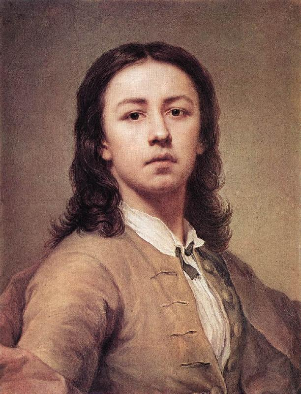 MENGS, Anton Raphael Self-Portrait oil painting picture