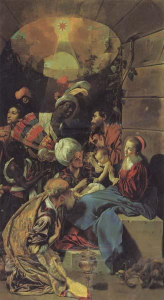 Maino, Juan Bautista del The Adoration of the Magi oil painting picture