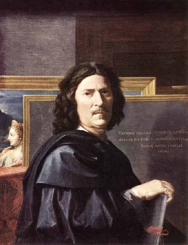 POUSSIN, Nicolas Self-Portrait oil painting picture