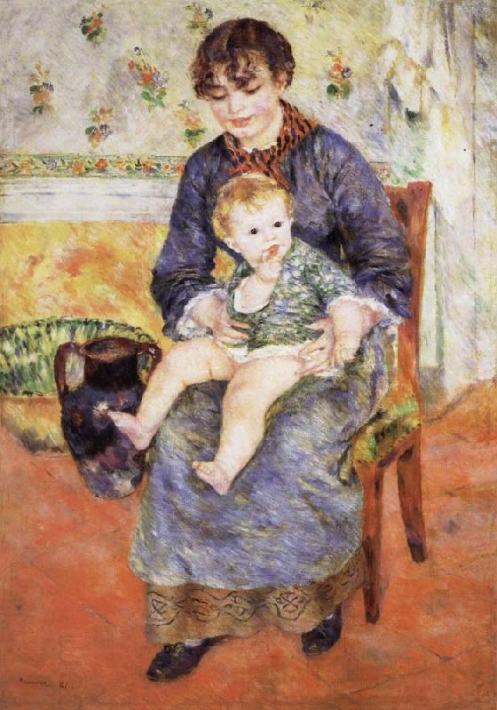 Pierre Renoir Mother and Child China oil painting art