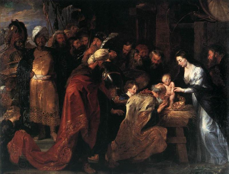 RUBENS, Pieter Pauwel Adoration of the Magi oil painting picture