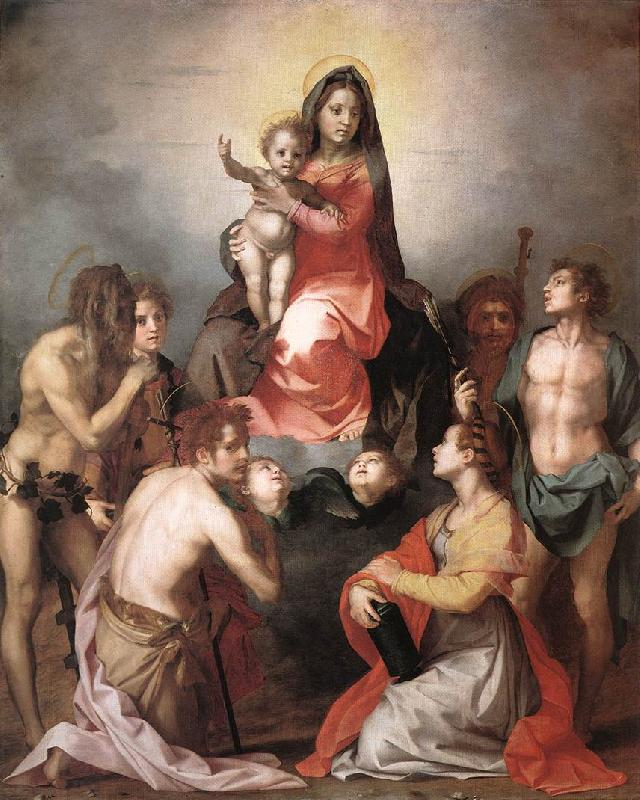 Andrea del Sarto Madonna in Glory and Saints oil painting picture