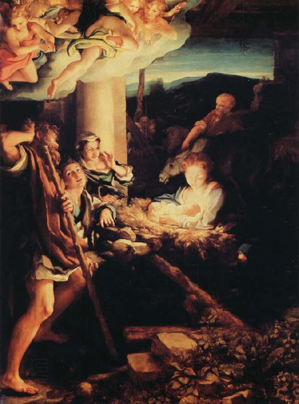 Correggio Adoration of the Shepherds oil painting picture