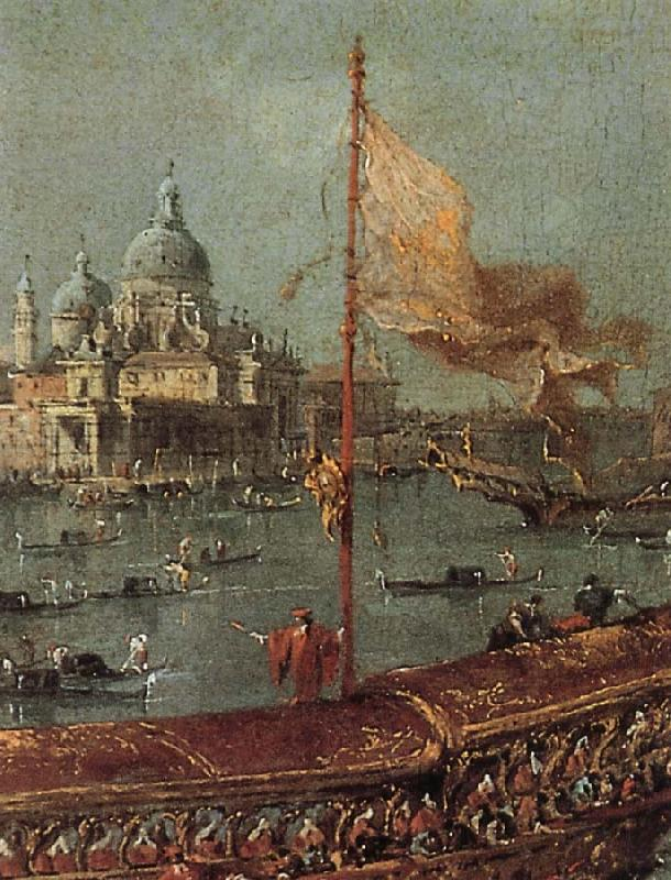 Francesco Guardi Details of The Departure of the Doge on Ascension Day oil painting picture