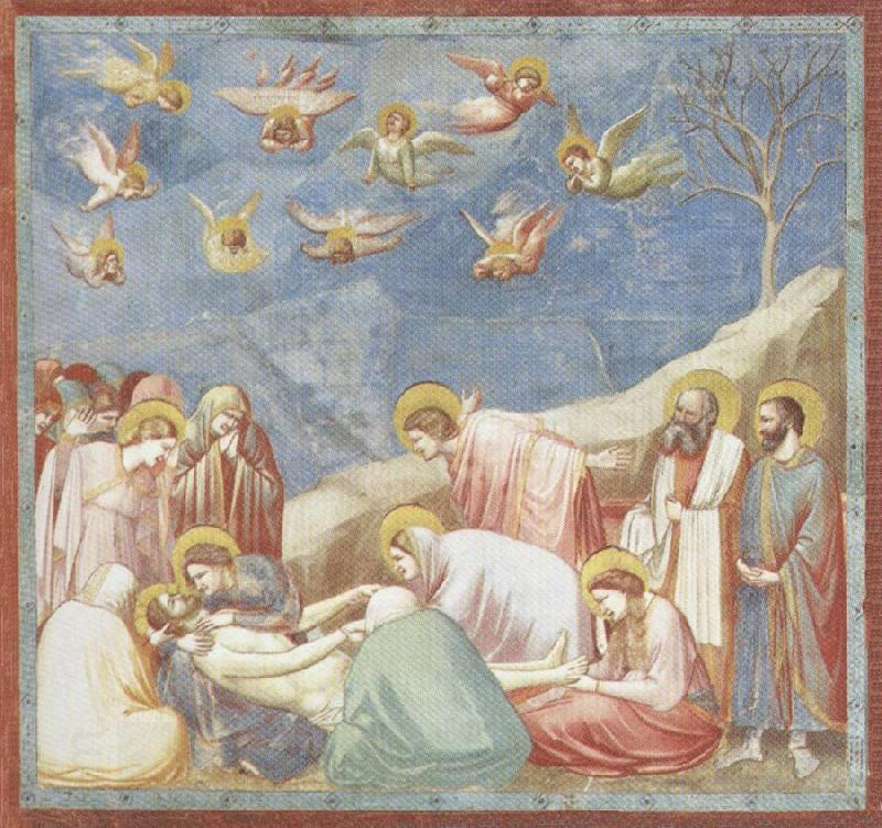 GIOTTO di Bondone Lamentation over the Dead Christ oil painting picture