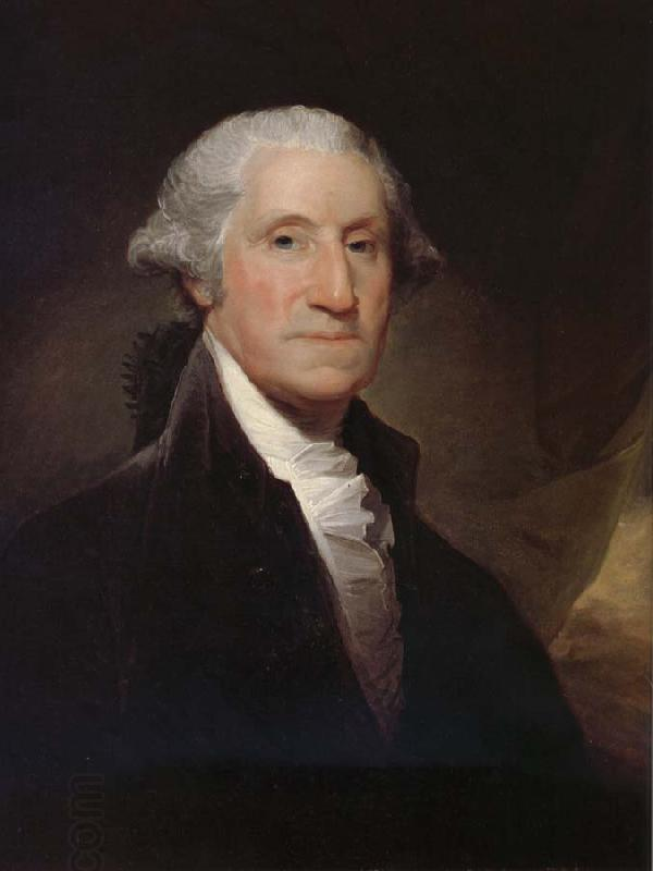 Gilbert Stuart George Washington oil painting picture