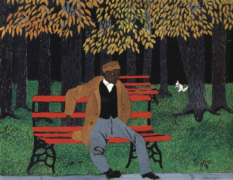 Horace pippin Man on a Bench