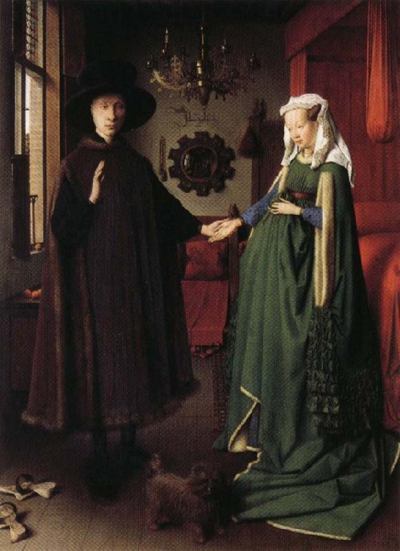 Jan Van Eyck Portrait of Giovanni Arnolfini and His Wife oil painting picture