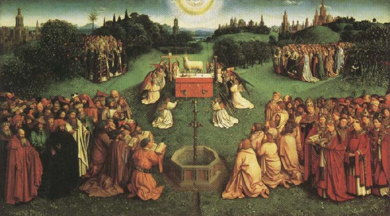 Jan Van Eyck Adoration fo the Mystic Lamb,from the Ghent Altarpiece oil painting picture