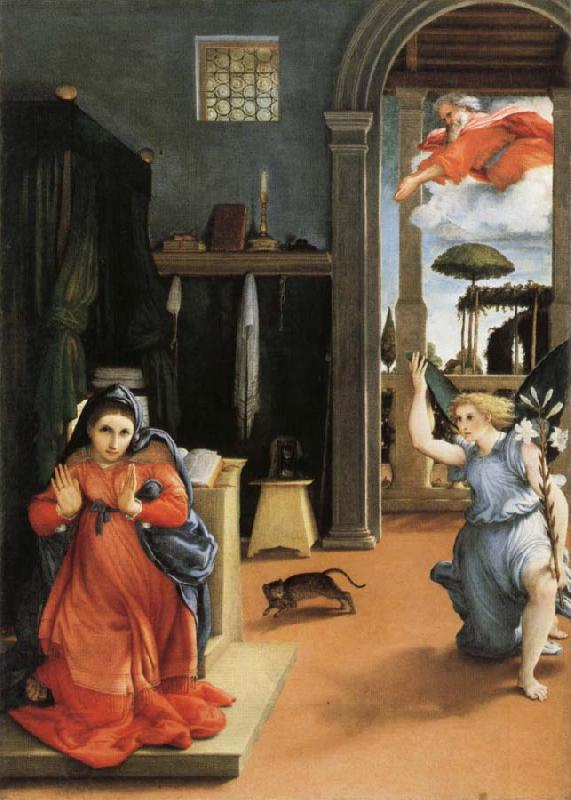Lorenzo Lotto Annunciation oil painting picture
