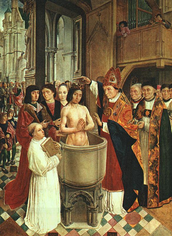 MASTER of Saint Gilles The Baptism of Clovis oil painting picture