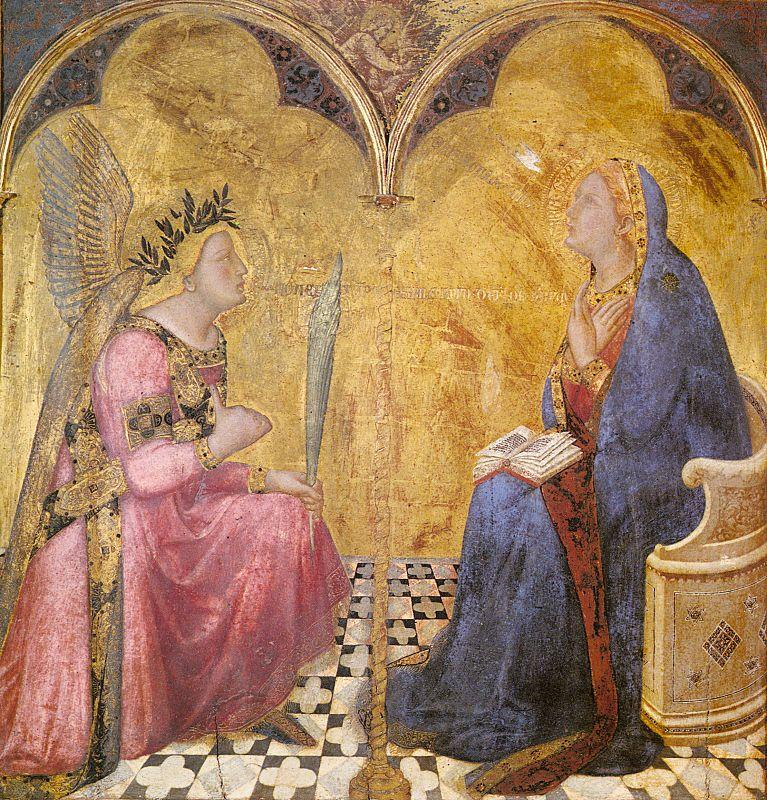Ambrogio Lorenzetti Annunciation oil painting picture