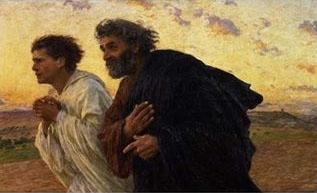 Eugene Burnand The Disciples Peter and John Running to the Sepulchre on the Morning of the Resurrection, c.1898