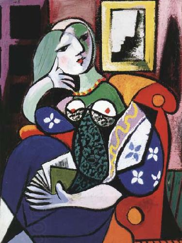 pablo picasso Woman with Book (mk04)