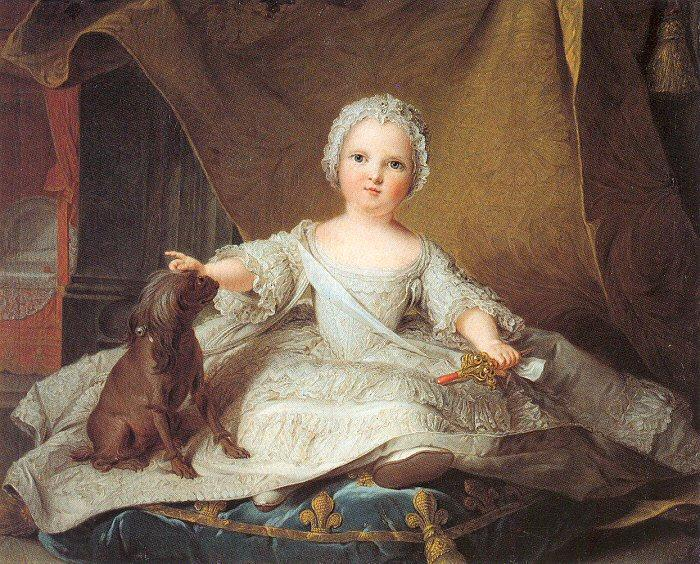 Jean Marc Nattier Marie Zephyrine of France as a Baby
