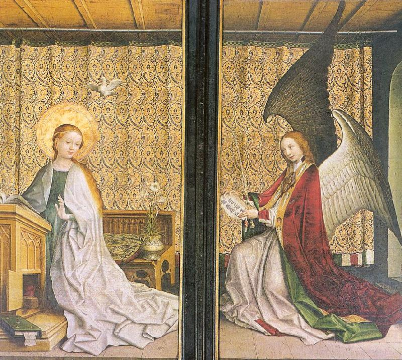Lochner, Stephan Annunciation oil painting picture