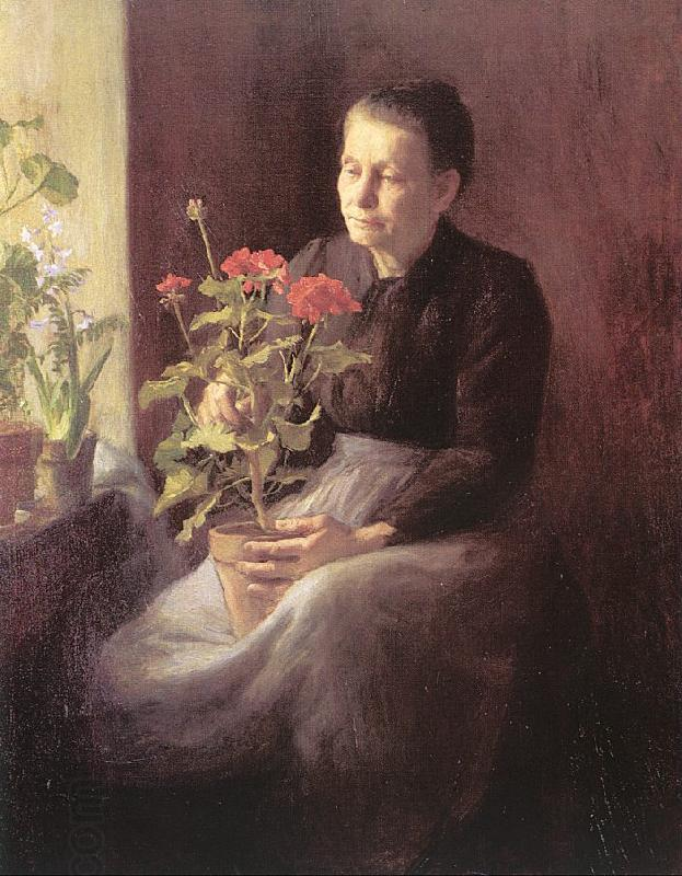 Lord, Caroline A. Woman with Geraniums