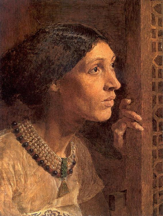 Moore, Albert Joseph The Mother of Sisera Looked out a Window oil painting picture