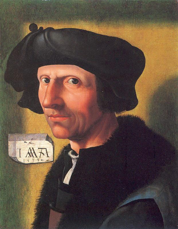Oostsanen, Jacob Cornelisz van Self-Portrait oil painting picture