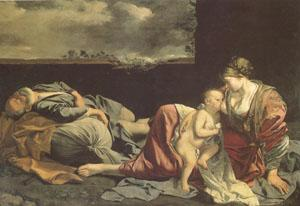 Orazio Gentileschi THe Rest on the Flight into Egypt (mk05) China oil painting art