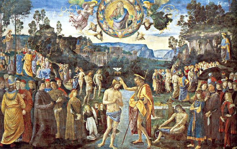 PERUGINO, Pietro Scenes from the Life of Christ China oil painting art