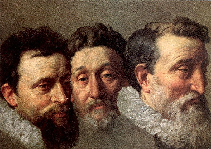 POURBUS, Frans the Younger Head Studies of Three French Magistrates