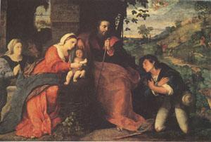 Palma Vecchio The Adoration of the Shepherds with a Donor (mk05)