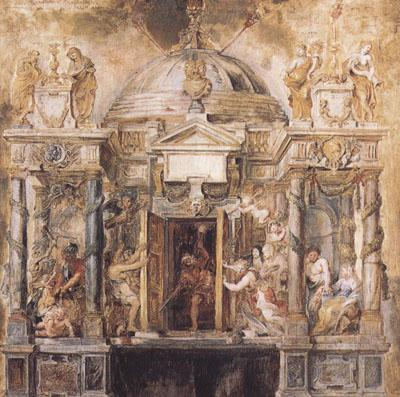 Peter Paul Rubens The Temple of Fanus (mk01) China oil painting art