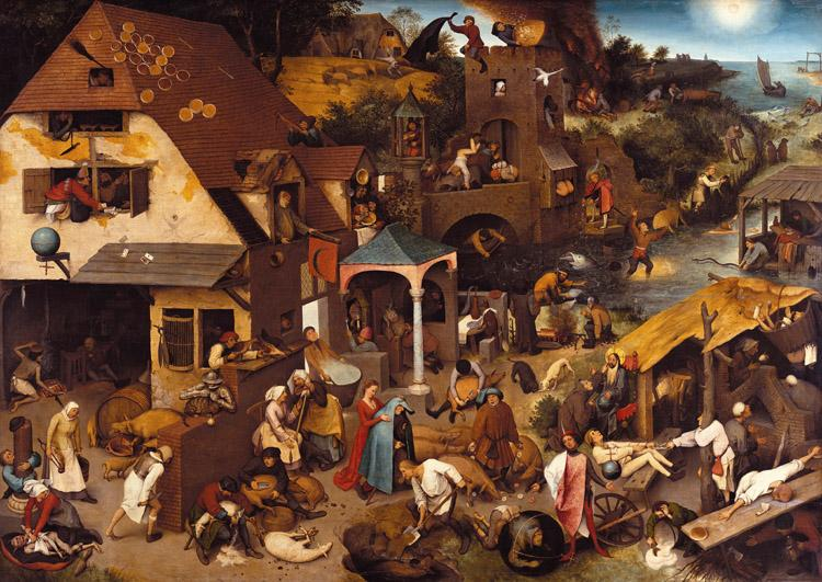 BRUEGEL, Pieter the Elder Netherlandish Proverbs (mk08)