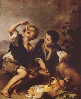 Bartolome Esteban Murillo The Pie Eater (mk08) oil painting picture