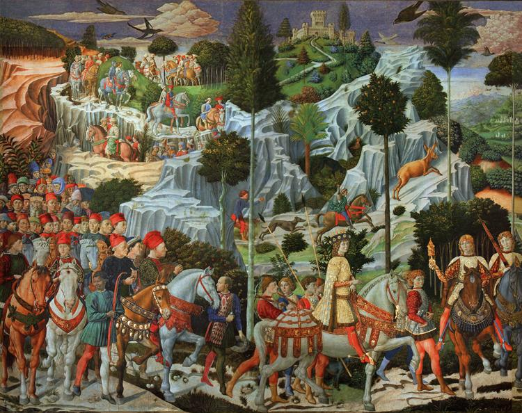 Benozzo Gozzoli Procession of the Magi (mk08)