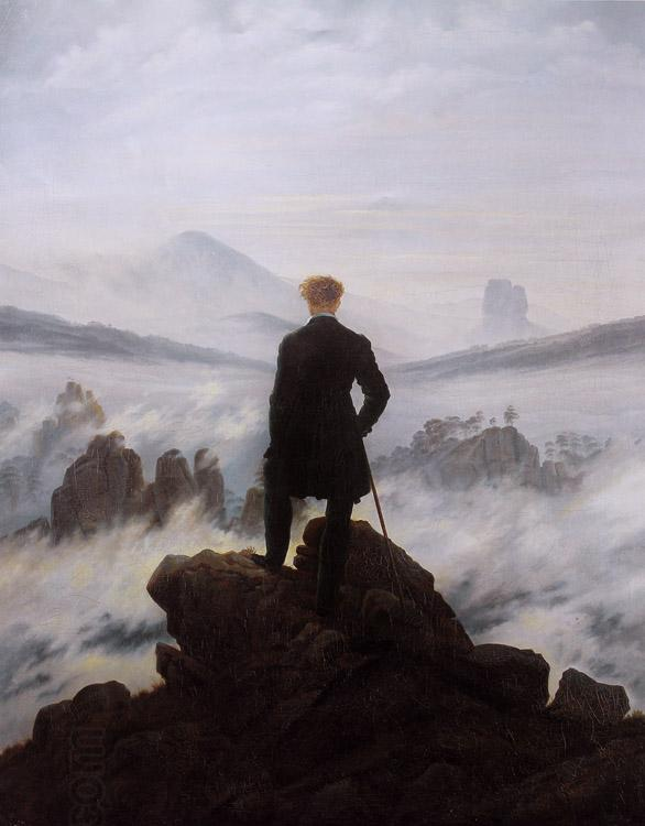 Caspar David Friedrich Wanderer watching a sea of fog (mk09)