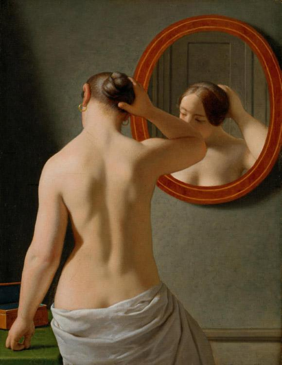 Christoffer Wilhelm Eckersberg Nude (Morning Toilette) (mk09) oil painting picture