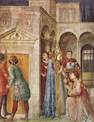 Fra Angelico St Lawrence Receiving the Church Treasures (mk08)