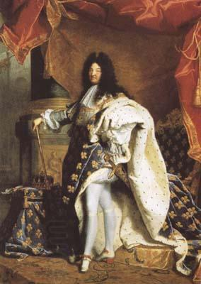 Hyacinthe Rigaud Portrait of Louis XIV (mk08) oil painting picture