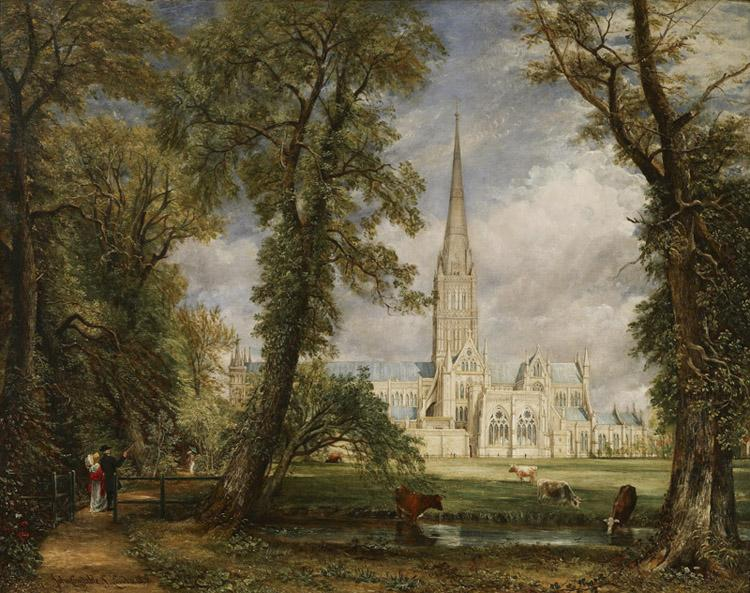 John Constable Salisbury Cathedral from the Bishop's Grounds (mk09)