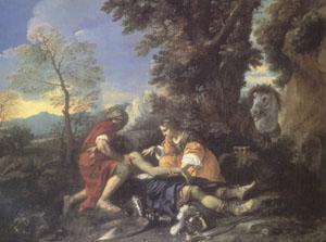 MOLA, Pier Francesco Herminia and Vafrino Tending the Wounded Tancred (mk05) oil painting picture